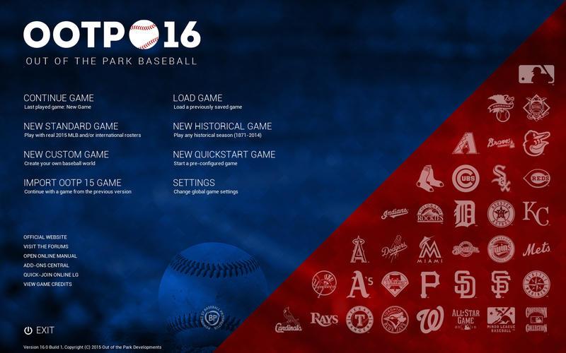 OOTP Baseball 16 Screenshot - 1