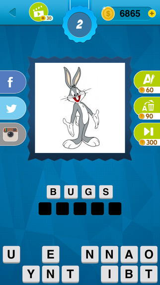 Cartoon Quiz Game - Guess Famous TV and Movie Char