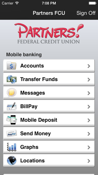 Partners Mobile Banking App