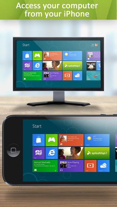 Splashtop 2 Remote Desktop for iPhone & iPod - Personal Screenshots
