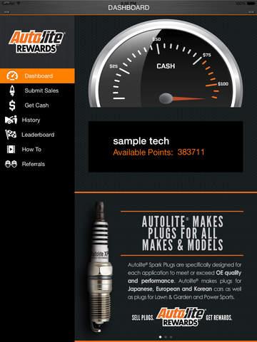 Autolite Rewards for iPad