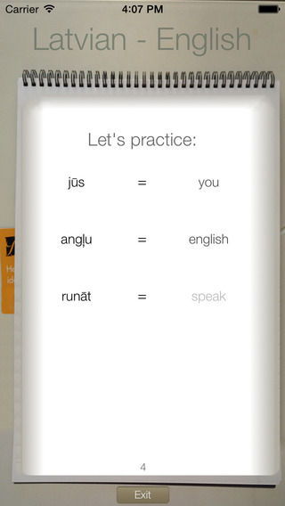 BidBox Vocabulary Trainer: English - Latvian iPhone Screenshot 1
