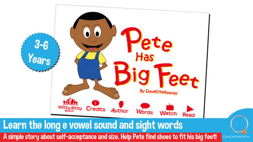 Read Rhyme: Pete has Big Feet An interactive rhymi
