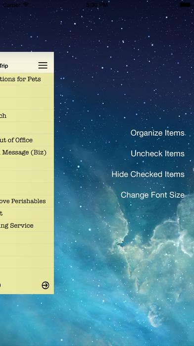 Essential Travel Checklist iPhone Screenshot 4