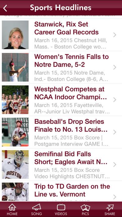 Boston College iPhone Screenshot 5