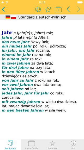 Polish German Dictionary Standard