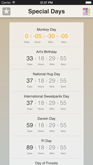 Special Days App