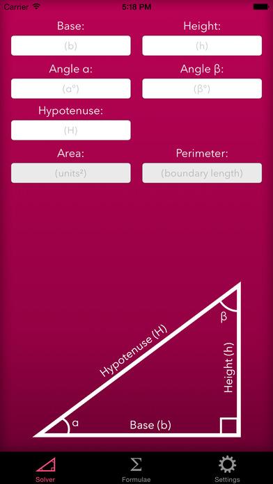 Trigonometry Help iPhone Screenshot 1