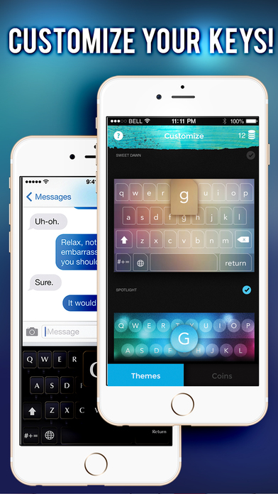 Screenshots of Keys on Fleek for iPhone - Customize your keyboard with colorful themes for iPhone