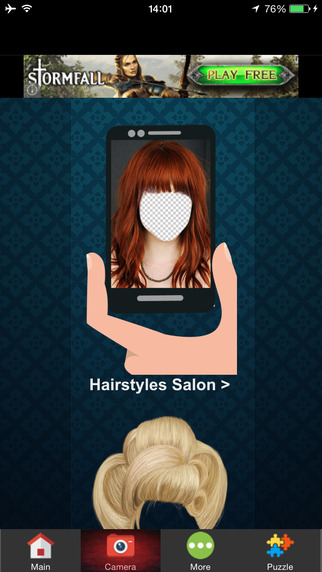 Hairstyle Makeover Salon Photo Montage