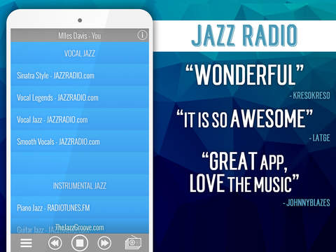Jazz Radio+ screenshot