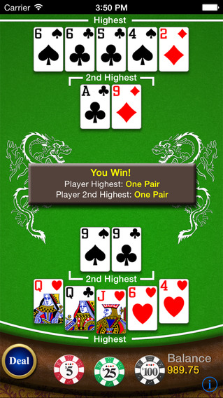 Pai Gow Poker iPhone Screenshot 1