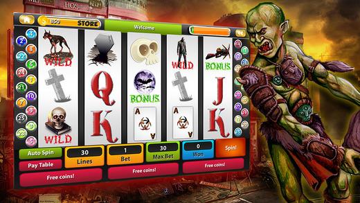 Las Vegas Zombie Slots Machine- A FREE Addictive Slot Simulator Game