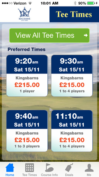 Kingsbarns Golf Tee Times