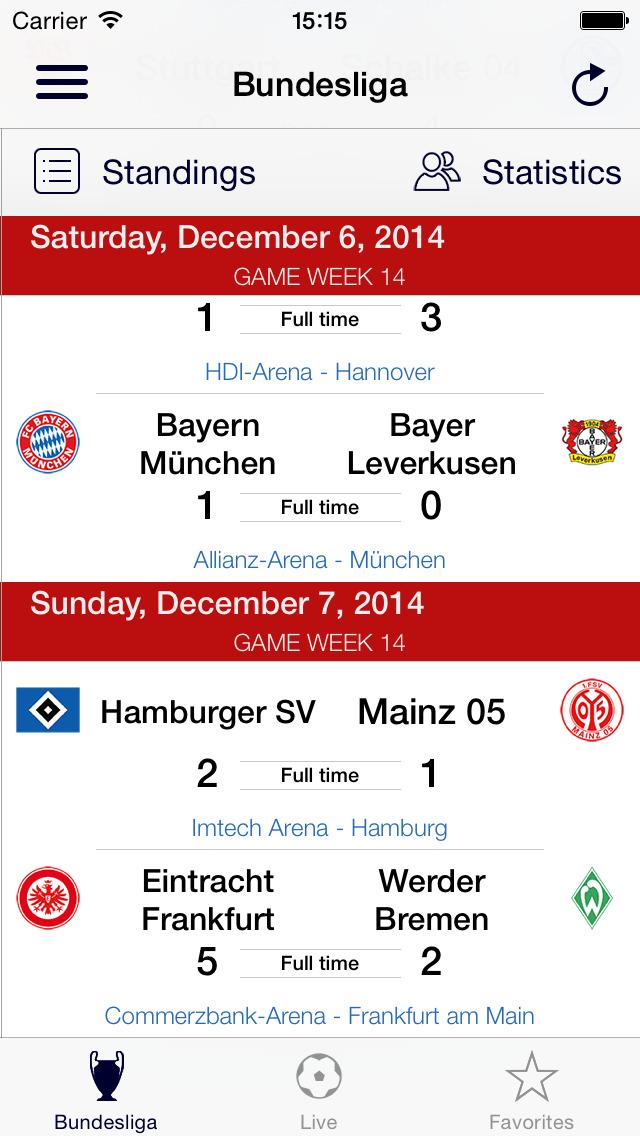 App shopper bundesliga live sports for Bundesliga live
