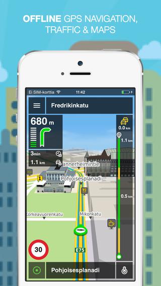 NLife Scandinavia Premium - Offline GPS Navigation Traffic Maps