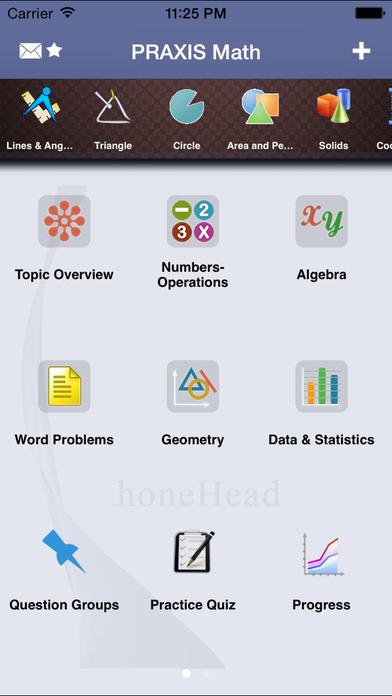 PRAXIS Math Aptitude iPhone Screenshot 1