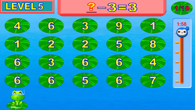 Easy learning subtraction - Smart frog kids math