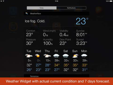 Прогноз погоды - Weather Now, виджет и температура на иконке Screenshot