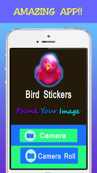 Selfie Fun Photo Maker- Make Prank of Images with Funky Bird Stickers