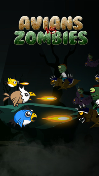 Avians vs. Zombie-s – Ghost Birds Flying on the Graveyard of the Un-Dead