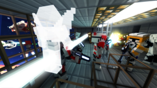Block Iron Robot 4 - Space Survival & Worldwide Multiplayer with skin exporter for Minecraft screenshot 1