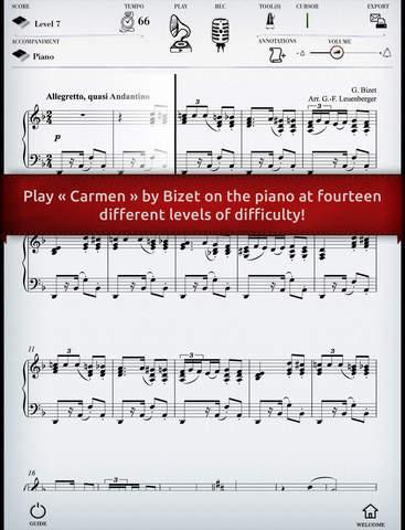 Play Bizet – Carmen Habanera interactive piano sheet music