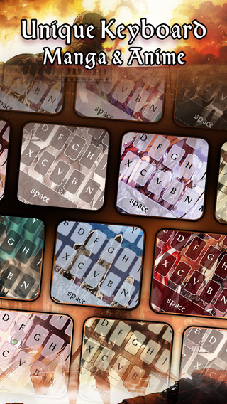 KeyCCM – Manga Anime : Custom Color Wallpaper Keyboard Themes in Attack on Titan Style