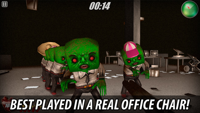 """Spin and shoot pesky zombies in """"Office Chair Zombie Attack"""" (via @appadvice)"""