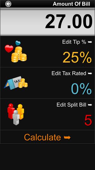 Cool Tip Calculator iPhone Screenshot 2