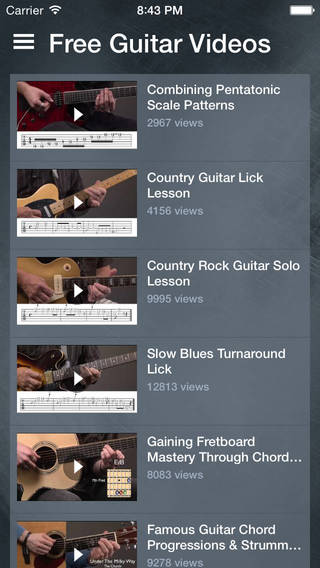 Free Guitar Videos