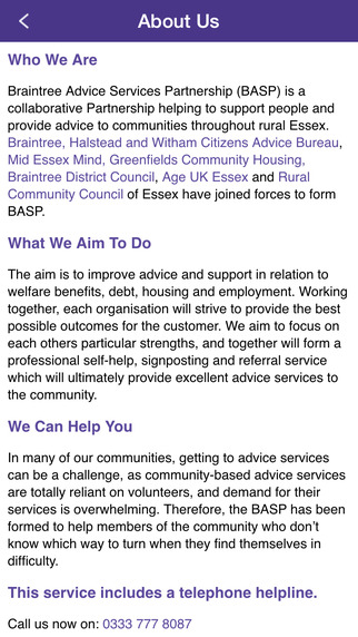 BASP - Braintree Advice Services Partnership