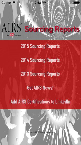 AIRS Sourcing Reports