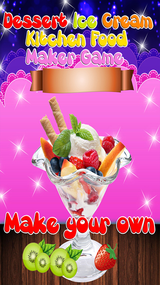 Dessert Ice Cream Kitchen Food Maker Game
