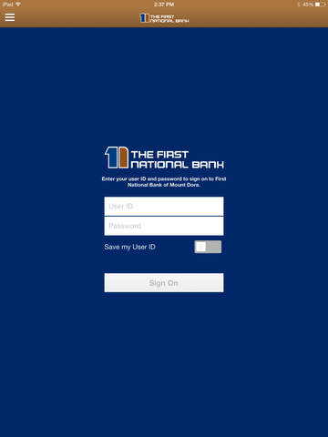 First National Bank of Mount Dora for iPad