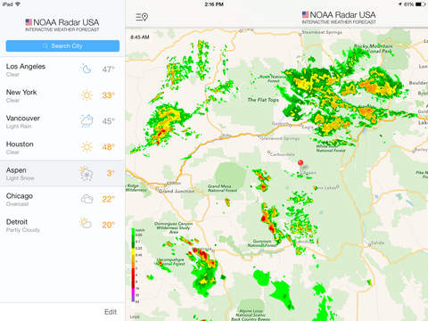 NOAA Radar USA Free :: iOS App :: International Travel Weather ... on