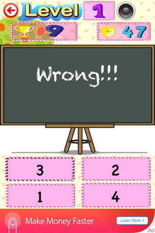 Kids Maths Game (Add, Subtract, Greatest, Smallest ...) screenshot 3