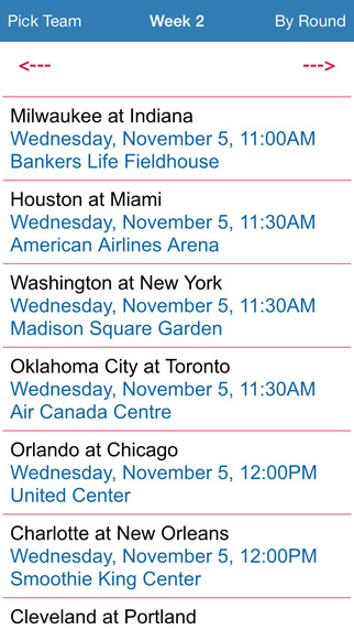 Pro Basketball Schedule 14-15