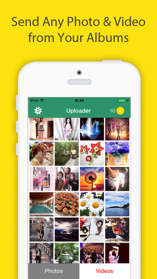 Snap Upload Free For Snapchat - Send photos videos from your camera roll