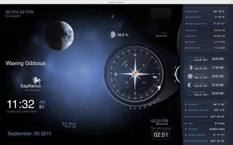 Deluxe Moon HD - Moon Phase Calendar Screenshots