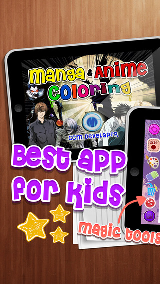 Coloring Anime Manga Book Painting -