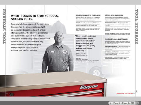 Snap-on Tools Catalog HD iPad Screenshot 1