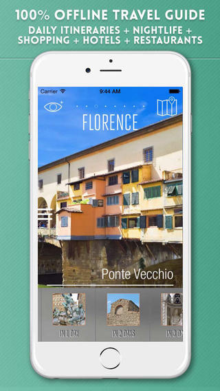 Florence Travel Guide with Offline City Street Maps