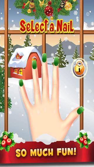 Holiday Nail Salon - Christmas Designer Fingernail Maker and Painter FREE