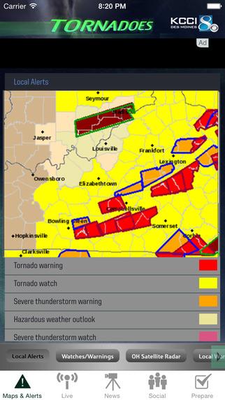 Tornadoes KCCI 8 Des Moines Iowa