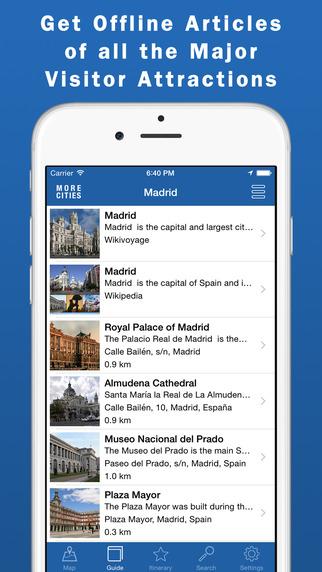 Madrid Travel Guide Offline Map