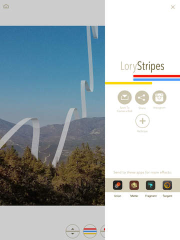LoryStripes - Add 3D Ribbons and Stripes to Your Photos Screenshots