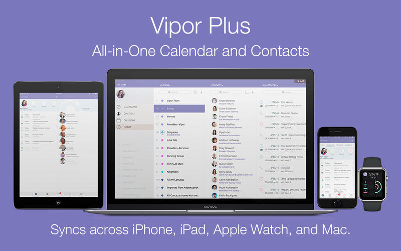 Vipor Plus - All in One Calendar and Contacts Screenshots