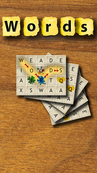 Words - English (The rotating word puzzle game) iPhone Screenshot 4
