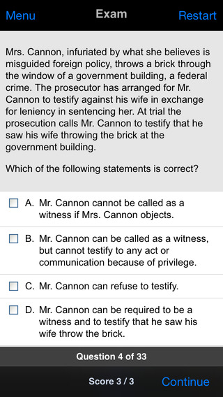 Evidence: Supreme Bar Review iPhone Screenshot 3